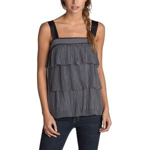 FCUK French Connection Angela Pleated Flapper Top